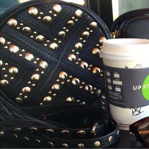 ✖️Rebecca Minkoff Bianca studded leather crossbody